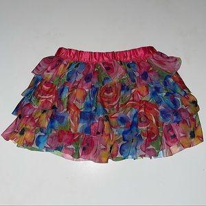 Kids Headquarters Girls Floral Ruffle Skirt sz 3T